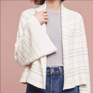 Moth Anthropologie Striped Knit Cardigan